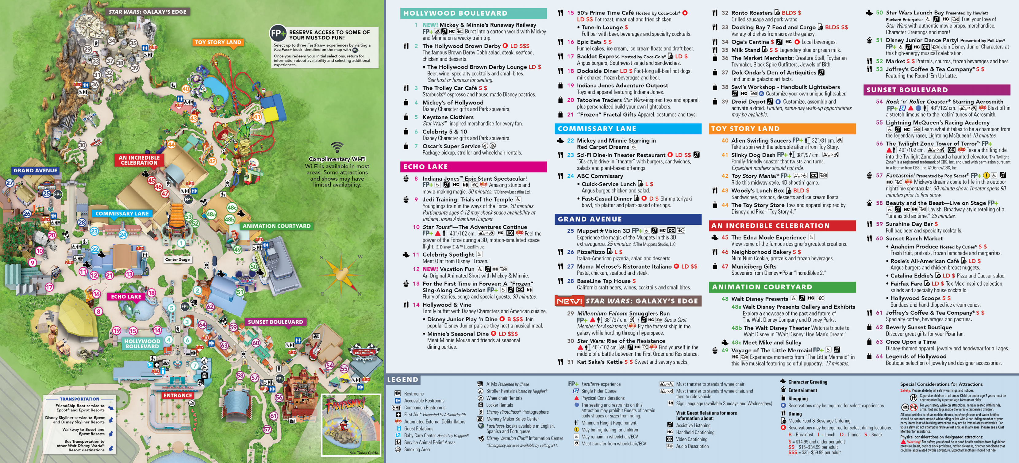 Hollywood Studios Park Map