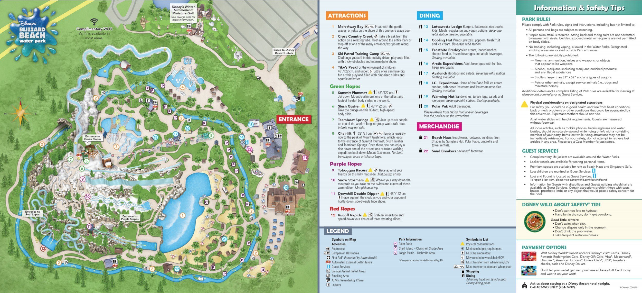 Disney World Blizzard Beach Map