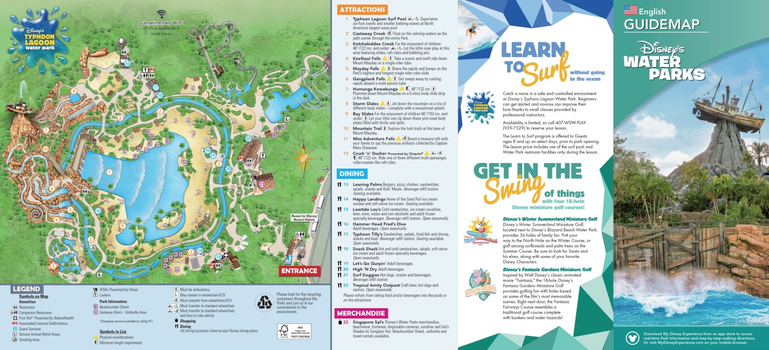 Typhoon Lagoon water Park map