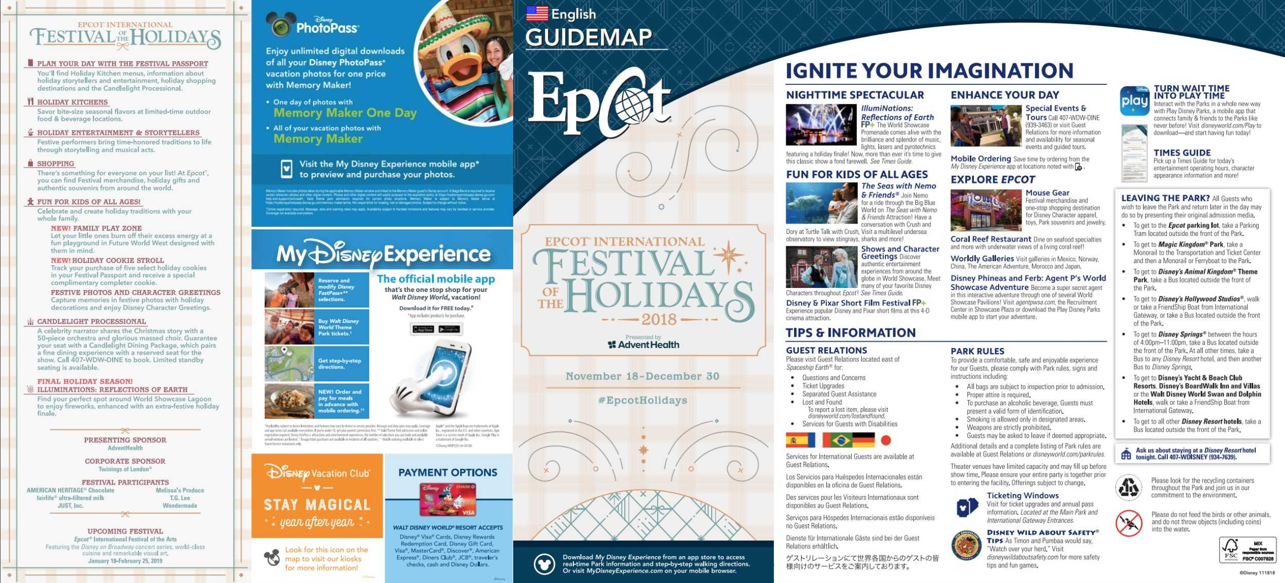 Epcot Festival of the Holidays Map