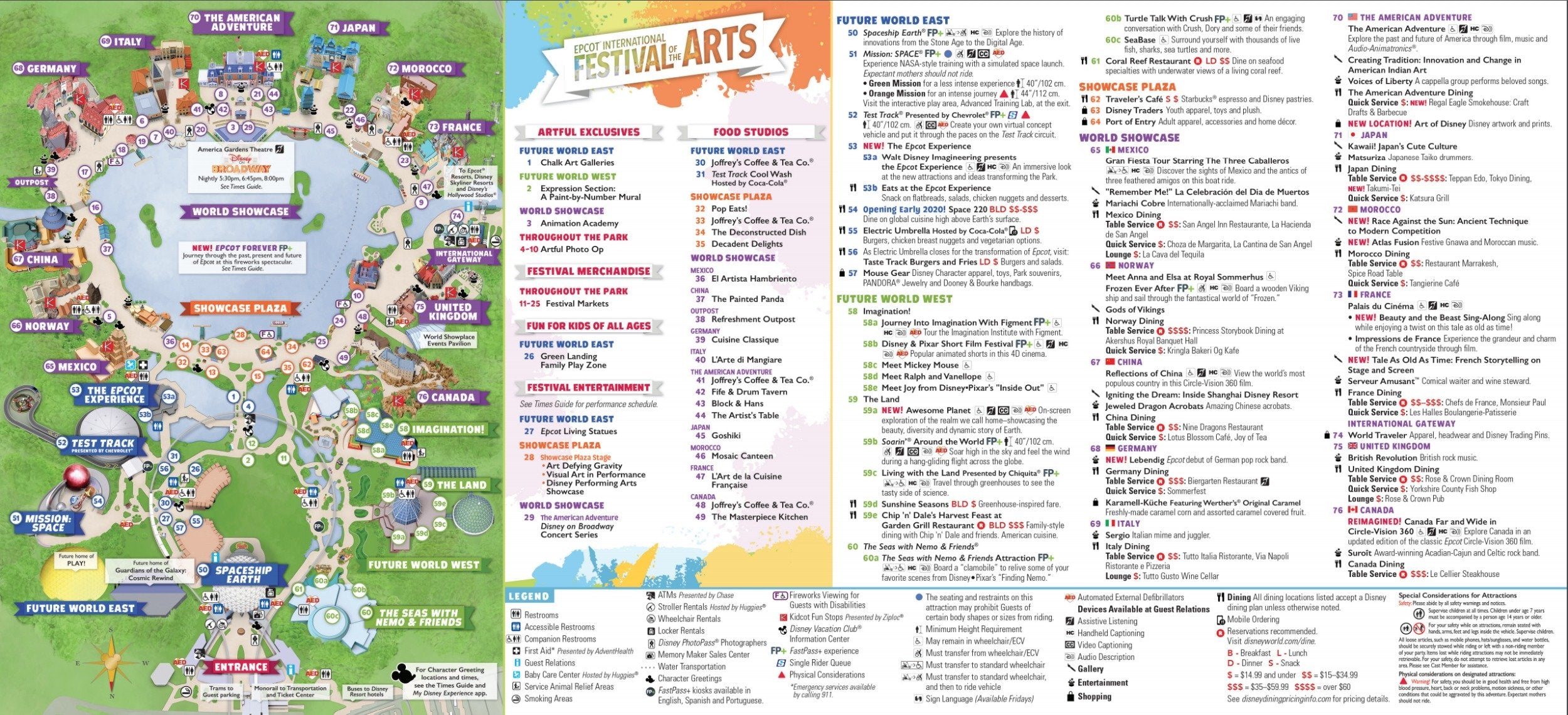Festival of the Arts Map