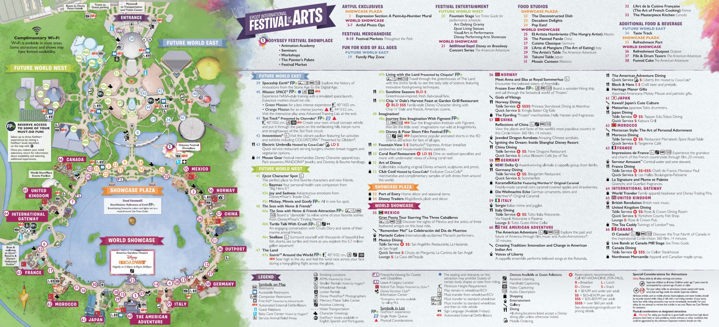 Epcot Festival of the arts map download