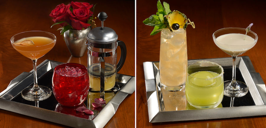 Enchanted Rose Lounge Drink selection