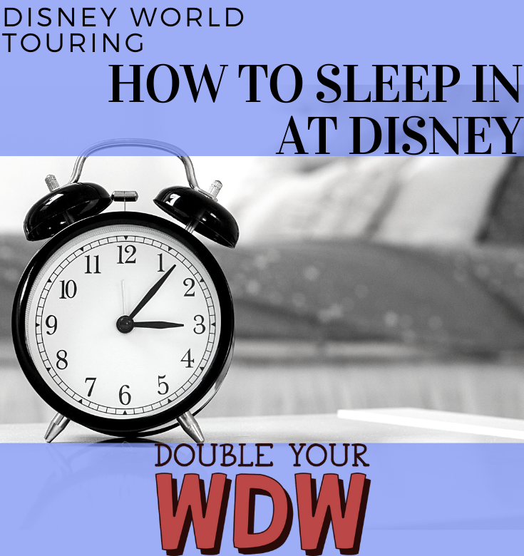 sleeping in at disney
