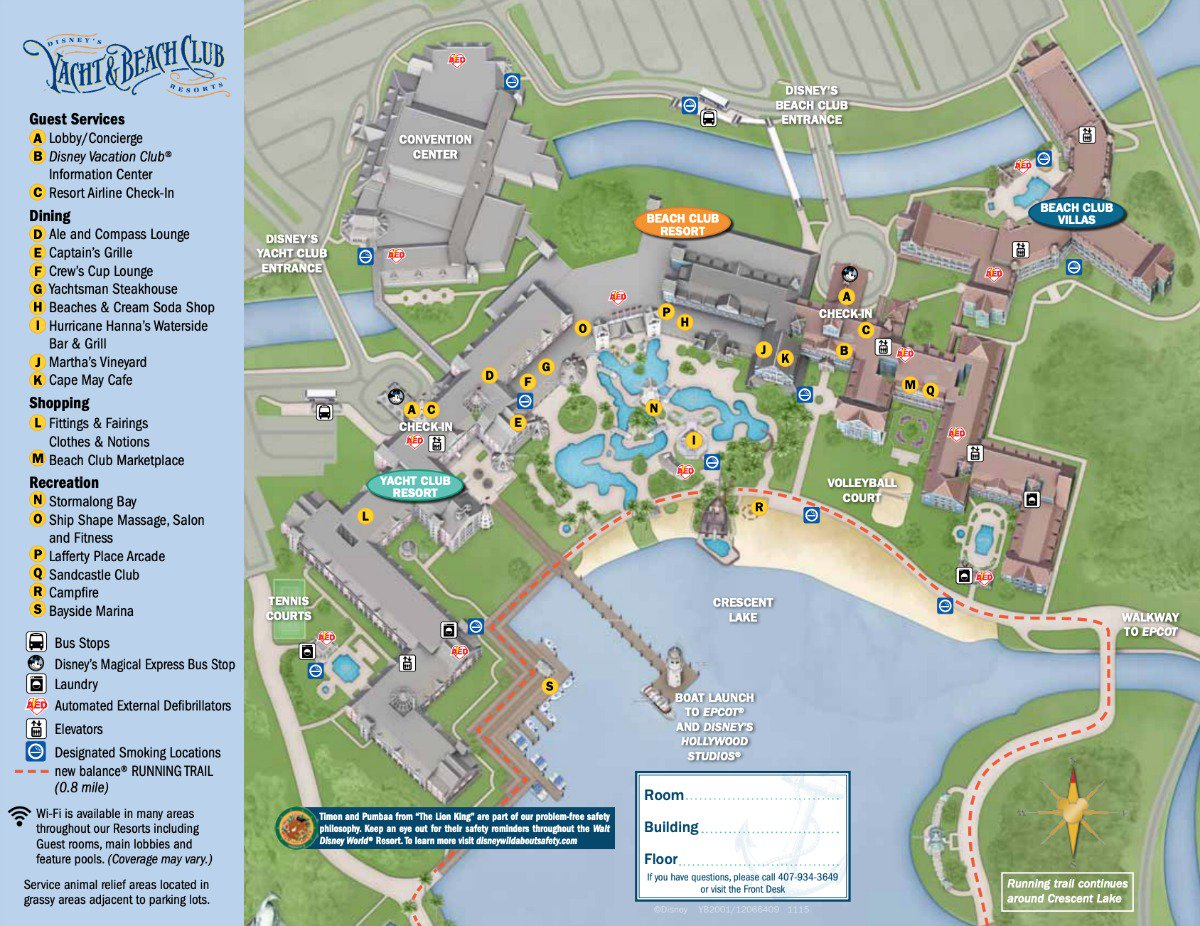 The Beach Club Map The Yacht Club Map