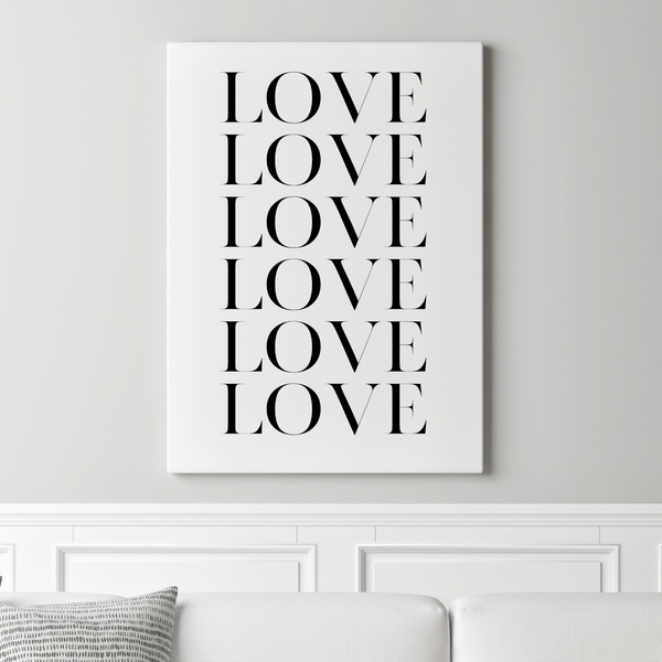 Love Love Love • Canvas