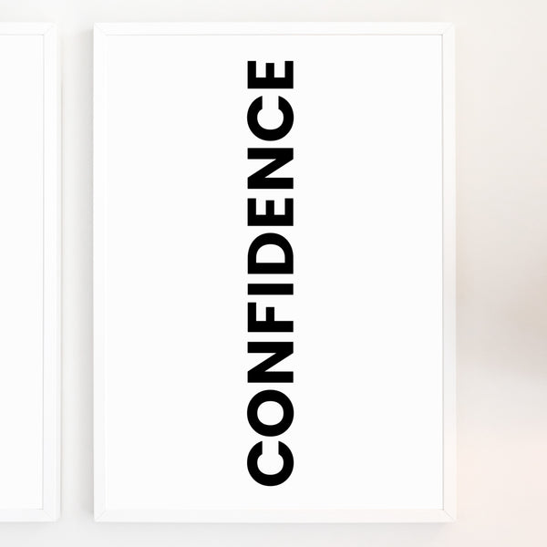 Confidence | Printable Wall Art | Instant Download | Positive Affirmations