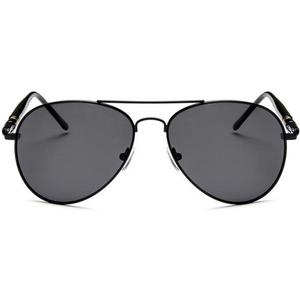 THE MAN (P*) - AVIATORS BLACK OVERSIZED POLARIZED sunglasses Fucsun