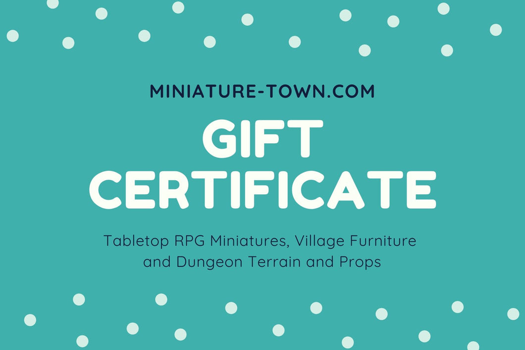 Miniature Town Gift Card - Miniature Town