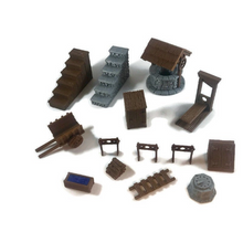 Load image into Gallery viewer, Mega 28mm Village Items Set Part 1 - Miniature Town