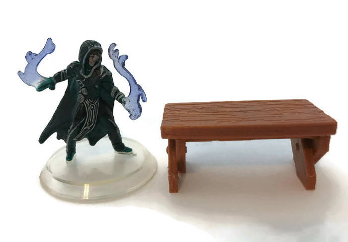 28mm Miniature Table for D&D Dungeon Furniture | RPG DnD Terrain | Dungeons and Dragons Terrain