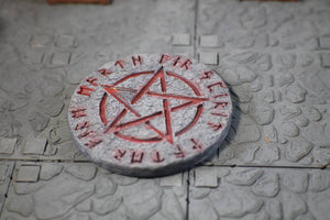 Arcane Circle for D&D Dungeon Terrain 28mm Scale - Miniature Town