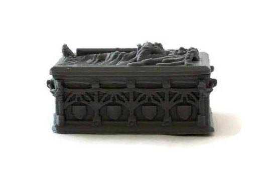 Fancy Sarcophagus for 28mm Miniature Graveyard Scenery - Miniature Town