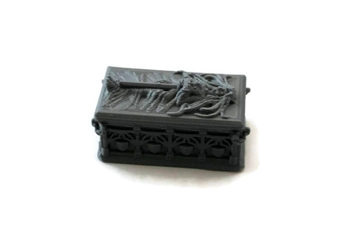Fancy Sarcophagus for 28mm Miniature Graveyard Scenery | Cemetery Terrain