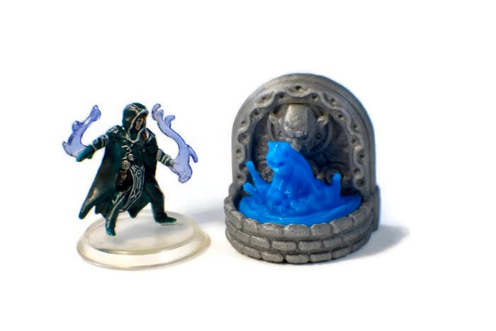 Water Fountain Monster Set | 28mm Scale DnD Terrain | Dungeon Terrain | DnD Miniatures | Dungeons & Dragons | RPG Terrain