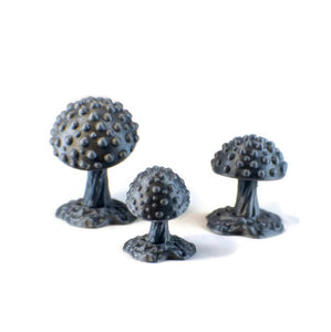 Mushroom Set 28mm Miniatures for D&D Cavern Terrain - Miniature Town