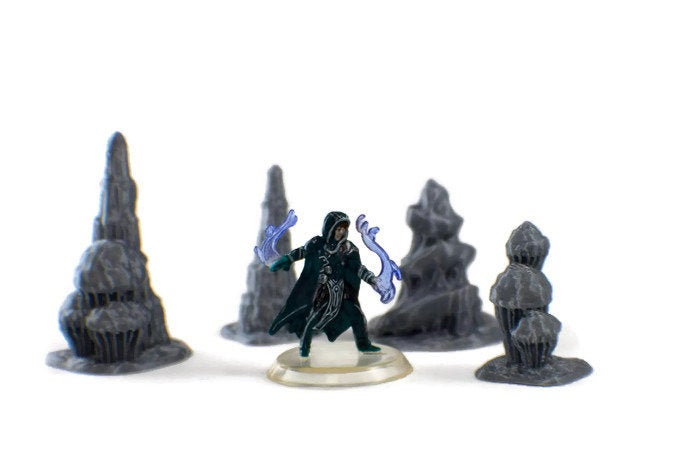 Stalagmite Set of 28mm D&D Cavern Terrain  | RPG Terrain Set | Dungeon Terrain | Dungeons and Dragons Terrain