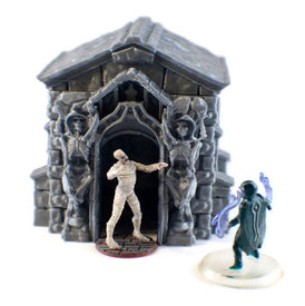 6-Piece DnD Mausoleum Set for 28mm Graveyard Scenery - Miniature Town