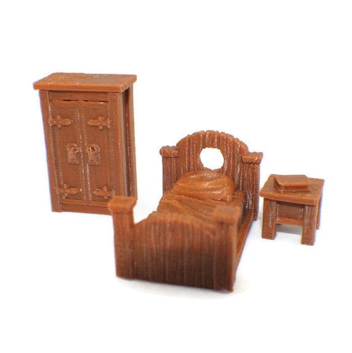 3-Piece Bedroom Set 28mm Furniture - Miniature Town