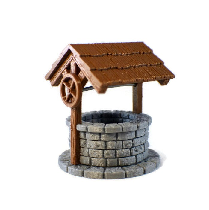 28mm Village Well for Tabletop RPG | Dungeon Terrain | D&D Terrain | Dungeons and Dragons Terrain