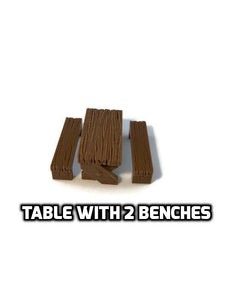 Miniature Table for 28mm Scale D&D Dungeon Furniture - Miniature Town