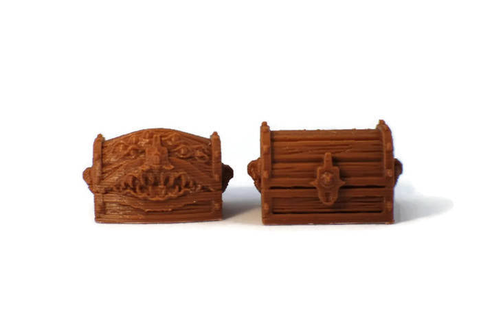 Mimic and Treasure Chest Set - 28mm Miniatures for RPG Dungeon Terrain | Dungeons and Dragons Terrain | D&D Dungeon Furniture