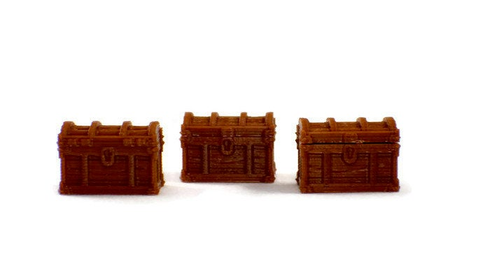 3-Pack Treasure Chests with Lids - Miniature Town