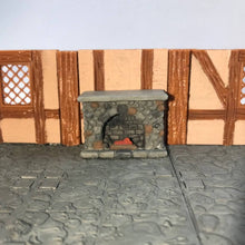 Load image into Gallery viewer, Fireplace 28mm Miniature Furniture for D&D Village Terrain - Miniature Town