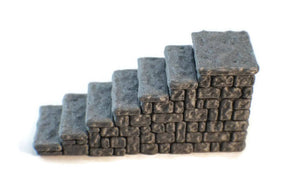 Miniature Staircase for 28mm Scale Dungeon Terrain - Miniature Town