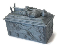 DnD Miniature Knight Tomb for 28mm Graveyard Scenery | Dungeon Terrain | Dungeons and Dragons Terrain