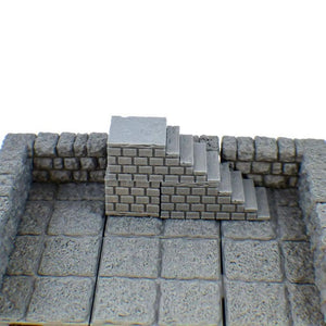 3-Piece Stair Set for Tabletop Gaming - Miniature Town