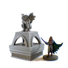 Load image into Gallery viewer, LED Light up Gargoyle Brazier - 28mm Dungeon Decor - Miniature Town