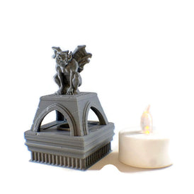LED Light up Gargoyle Brazier - 28mm Dungeon Decor - Miniature Town