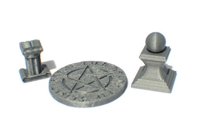 3-Piece Arcane Items Set 28mm miniatures - Miniature Town