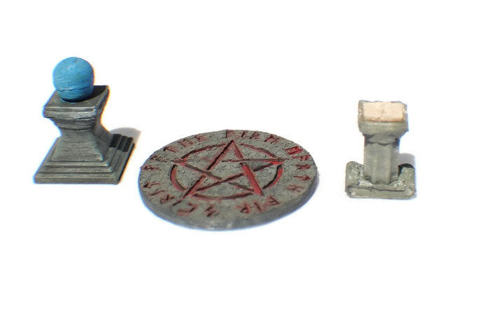 3-Piece Arcane Items Set 28mm miniatures | Dungeon Terrain | RPG Terrain | Dungeons & Dragons | DnD Miniatures