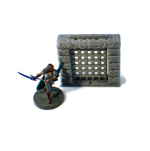 Portcullis Door for 28mm Scale Dungeon Terrain - Miniature Town
