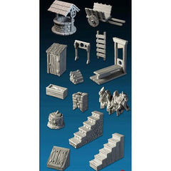 Mega 28mm Village Items Set Part 1