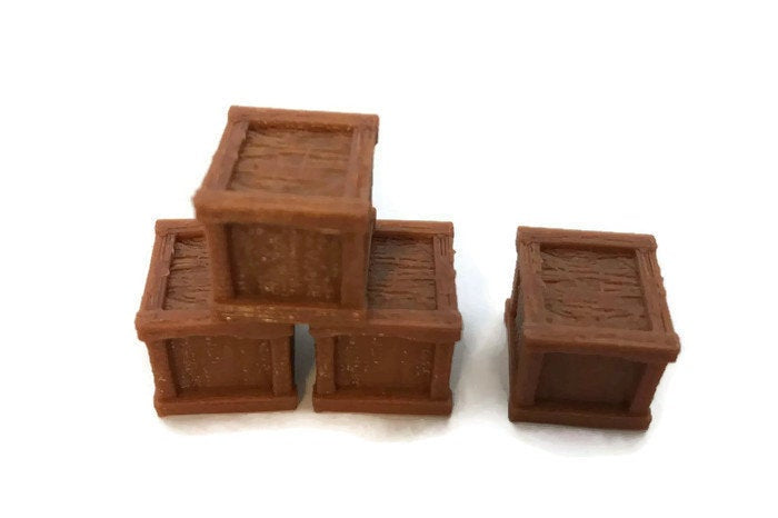 Miniature Crates 28mm Set for RPG Terrain - Miniature Town