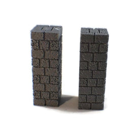 2-Piece Long Wall Scatter Blocks for 28mm Scale Dungeon Terrain - Miniature Town