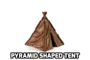 Tents and Campfire 28mm Miniature Terrain - Miniature Town