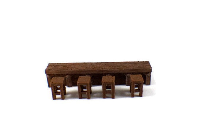 28mm Tables and Chairs for D&D Dungeon Furniture | RPG Dungeon Terrain | Dungeons and Dragons Terrain