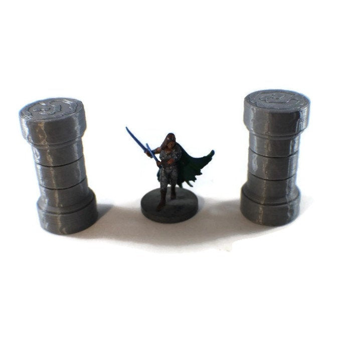 2-Piece Columns for 28mm Scale Terrain Scatter Blocks - Miniature Town
