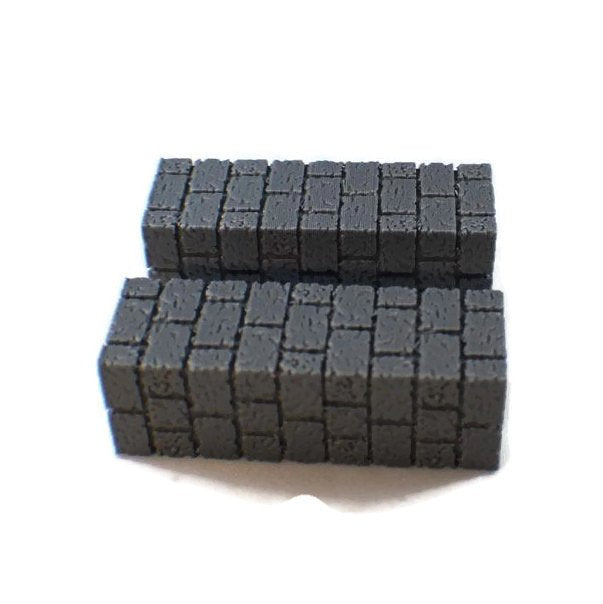 2-Piece Long Wall Scatter Blocks | Dungeon Terrain Dungeons and Dragons Terrain