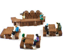 Load image into Gallery viewer, Sitting Tavern NPCs 28mm Miniature Set for D&D Furniture - Miniature Town