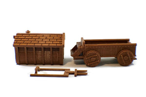 Carnival Wagon 28mm Scale Miniature - Miniature Town
