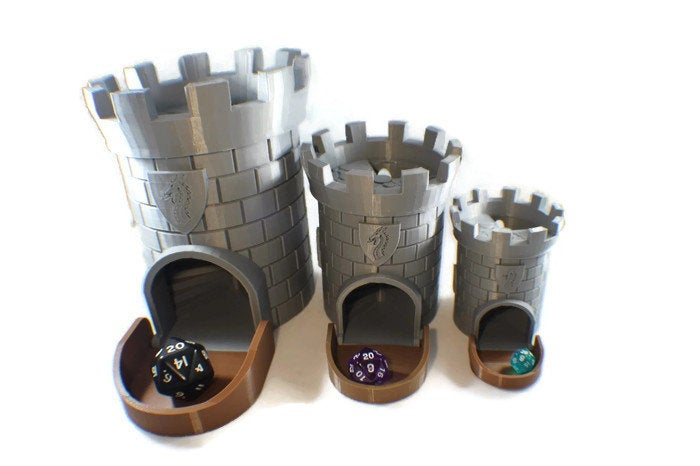 Dice Tower for Tabletop RPG - Miniature Town