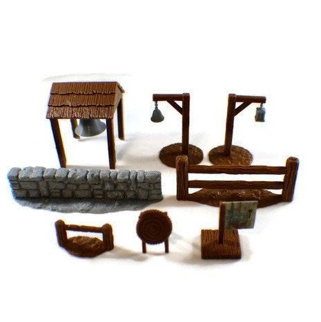 Mega 28mm Village Items Set Part 2 | D&D Dungeon Furniture | Dungeons and Dragons Terrain | RPG Dungeon Terrain