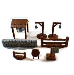 Mega 28mm Village Items Set Part 2 - Miniature Town