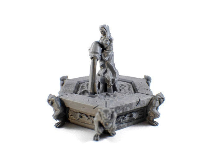Village Fountain - 28mm Village Decor for Tabletop RPG | Dungeon Terrain | RPG DnD Terrain | Dungeons & Dragons Terrain