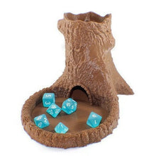 Load image into Gallery viewer, Tree Dice Tower and Set of Polyhedral Dice - Miniature Town